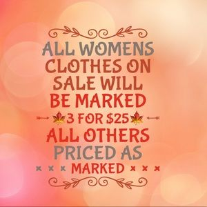 WOMENS CLOTHES ON SALE